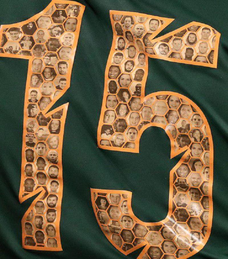 ラグビー南アフリカ 背番号 模様