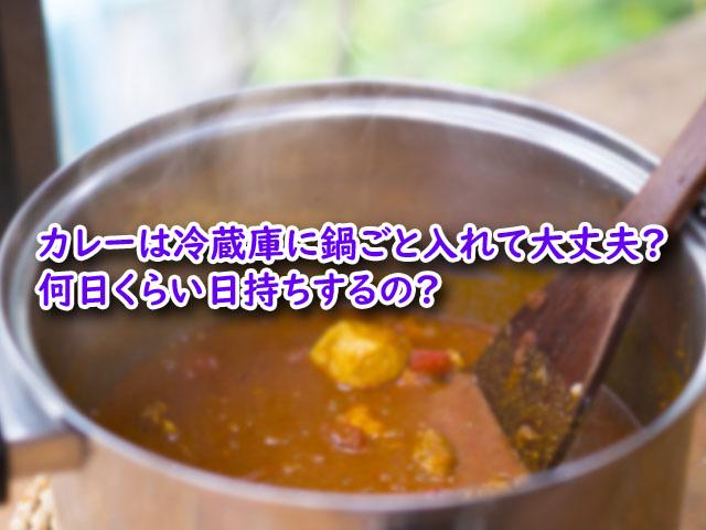カレー 冷蔵庫 鍋ごと 何日