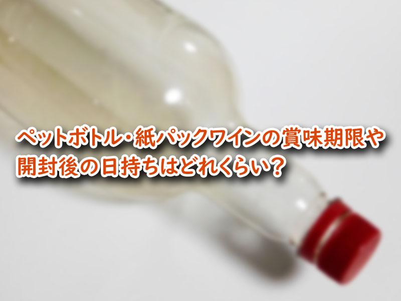 ペットボトル 紙パック ワイン 賞味期限