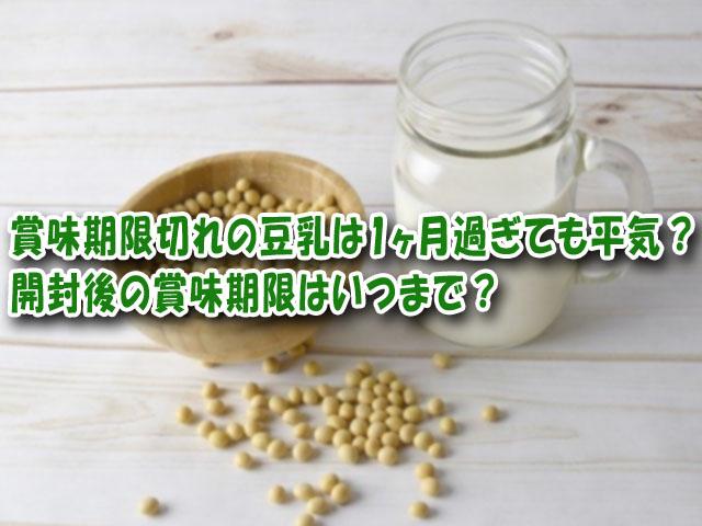 豆乳 賞味期限切れ 1ヵ月
